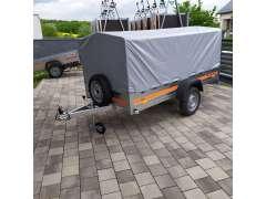 Fotka k inzerátu Nový MULTIFUNKČNÍ -  SKLÁPĚCÍ přívěsný vozík 240X130CM,270x130cm do 750KG, s plachtou, kolečkem.. / 15685712