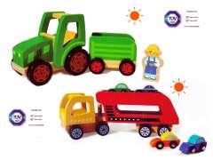 Fotka k inzerátu Dřevěné autíčka 2kusy -  nové nepoužité -  vhodné jako dárek  / 15462375